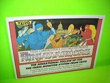 Taito NINJAWARRIORS Original NOS 1988 Video Arcade Game Flyer Electrocoin UK