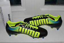PUMA EVOSPEED 1.2 MIXED SG BLACK FLUO YELLOW SOCCER CLEAT #8us $220