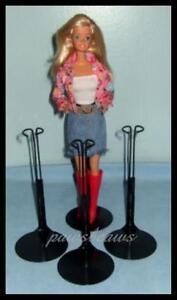 3 BLACK Kaiser #2275 Doll Stands for BARBIE Fashion Royalty Misaki
