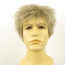 Perruque homme 100% cheveux naturel blanc méché gris FLORENT 51