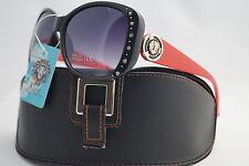 DG Occhiali da sole nuovo rosso maniche stile resistente agli urti + free regalo