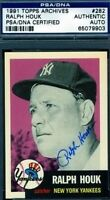 Ralph Houk Signed Psa/dna 1953 1991 Topps Archives Autograph Authentic