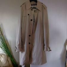 Burberry London Men's Beige Coat Raincoat Size Medium 52