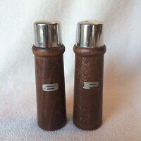 Vintage Mid Century Salt and Pepper Shakers Set Wood Japan