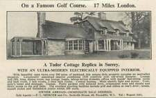 1936 Tudor Cottage Replica Surrey Golf Course 17 Miles London For Sale
