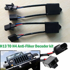 """H4-To-H13 Jeep Wrangler JK Anti-Flicker Decoders For Any 7"""" Round LED Headlight"""