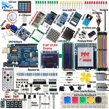 Fit Arduino OLED SPI Bluetooth LCD1602 PIR RTC DHT11 ULTIMATE UNO R3 Starter Kit