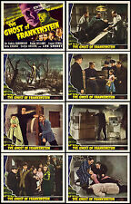 THE GHOST OF FRANKENSTEIN COMPLETE SET OF 8 INDIVIDUAL 8x10 LC PRINTS 1942