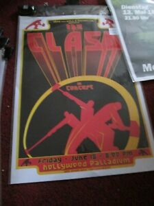 Lot x 6 The Clash BAND POSTERS Concert Music Posters Club Bar Decor x 6