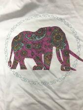 Southern Lure White Shirt Lilac Purple Preppy Paisley Elephant Adult Large Nwot