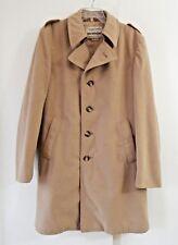 vintage 70s mens brown Stratojac coat outerwear faux suede retro long 42L