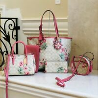 NWT Coach Lilly Floral Reversible Tote+wristlet+wallet+Crossbody (Many Options)