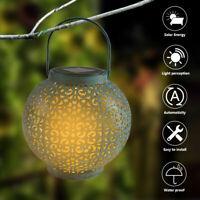 LED Solar Light Straw Hat Lamp Outdoor Lighting Waterproof IronLamp Landscape