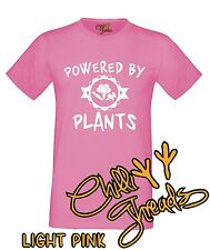 POWERED BY PLANTS Vegan Vegetarian Veggie Animal Lover T-shirt Vest Tshirt
