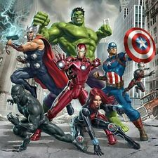 5D Full Drill Diamond Painting Avengers Embroidery Cartoon Cross Stitch Kits Art