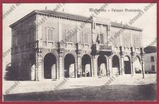 FERRARA MIGLIARINO 04 MUNICIPIO Cartolina VIAGGIATA 1908 foto O. MAZZOLA