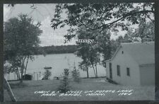 MN Park Rapids RPPC 50's CABIN #5 HULLS on POTATO LAKE