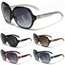 Unique Style Oversized Retro Plastic Frame Womens Vintage Sunglasses