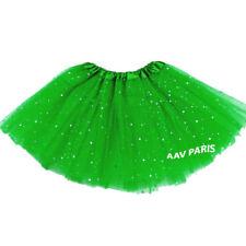 Tutu de Ballet Paillettes Etoile Danse Jupes pour filles - taille unique - vert