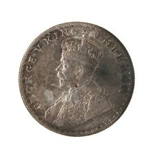 Raw 1917 Indian One Rupee King George Silver Coin