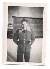 Portrait homme prisonnier photo ancienne tampon Stalag an. 1940