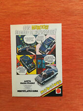 "PUBBLICITA' ORIGINALE ADVERTISING MODELLINO ALFETTA POLIZIA ""MEBETOYS"" del 1979"