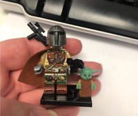 ORIGINAL STAR WARS The Mandalorian+Child (BABY YODA) CUSTOM Lego MOC Minifigure