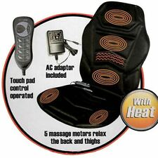 Heated Back Seat Massage Chair Car Home Relax Van Back Stress Massager Cushion