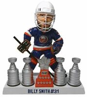 NY Islanders Billy Smith Stanley Cup and Conn Smythe Trophy Bobblehead NIB
