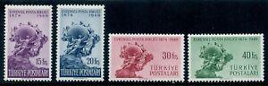 Turkey Scott 996-999 UPU Monument 75th Anniversary MNH L1