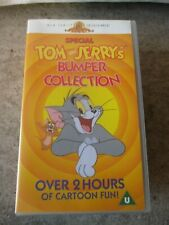 TOM AND JERRY BUMPER COLLECTION VIDEO VHS RARE ANIMATED CARTOON DOUBLE VIDEO