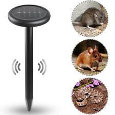 2pcs Ultrasonic Solar Power Mouse Repeller Outdoor Garden Yard Mole Rat Rodent