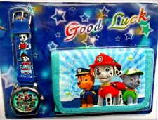 Paw Patrol Children's Watch Wallet Set For Kids Boys Girls Christmas Gift 2018