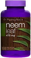 NEEM LEAF 475MG Bloody Nose Intestinal Worms Stomach Pain SUPPLEMENT 100 CAPSULE