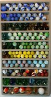 Lot of 154 Vintage Mixed Marbles