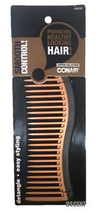 "Conair Copper Collection Easy Styling Detangle Smooth Control 7"" Hair Comb"