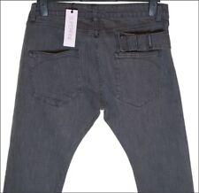 """NUOVO CON ETICHETTA Uomo Superfine STRETCH scanalatura fibbia Jeans W34 """" L34 """""""