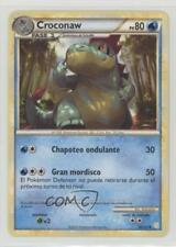 2010 Pokémon HeartGold & SoulSilver Base Set Spanish #38 Croconaw Card 2f4