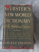 Webster's New World Dictionary The American Lang. College Edition Vintage 1957