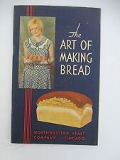 NORTHWESTERN YEAST ART OF MAKING BREAD, VintageIllustrated Booklet with letter