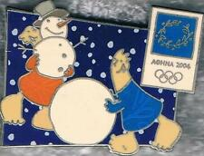 LE 2004 Athens Mascots Snowman Christmas 2002 Olympic Games Mark Pin