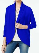 INC International Concepts Curved-Hem Cardigan Bright Blue M