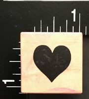 TINY SINGLE LOVE HEART PSX A-412 Wood Mounted Rubber Stamp