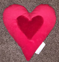 "Heart on Heart Valentine's Day Love 12"" Pillow"