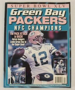 NFL Super Bowl XLV Green Bay Packers NFC Champion Magazine Aaron Rodgers 2011