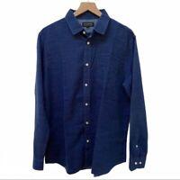Banana Republic Factory Slim Fit Button Down Long Sleeve Shirt Men's Size L Work