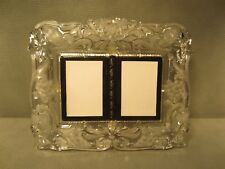 """Mikasa Lead Crystal Double Picture Frame 11"""" x 9 1/2"""" for 3"""" by 4 1/4"""" pictures"""
