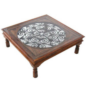 Beautiful Wooden Spaish Coffee Table made from Sheesham Wood