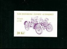 LOT 81673 MINT NH 2932 COMPLETE BOOKLET RACE CAR STAMPS FROM CZECHOSLOVAKIA
