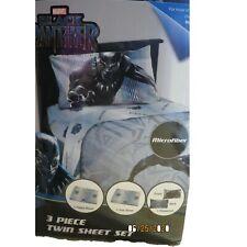 New Marvel Black Panther 3 Piece Twin Sheet Set